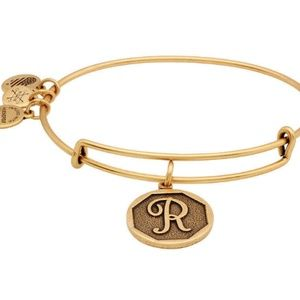 "Gold ""R"" Alex and Ani Bracelet"
